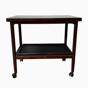 Vintage Rosewood Drinks Trolley Bar Cart