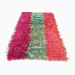 Vintage Angora Long Wool Pile Tulu Rug, 1970s