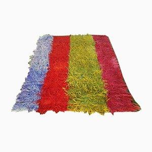 Türkischer Vintage Tufted Tulu Teppich aus Angora-Wolle