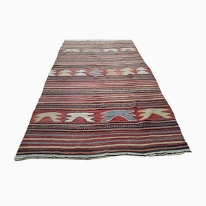 Medium Sized Vintage Muted Kilim Rug, 1970s
