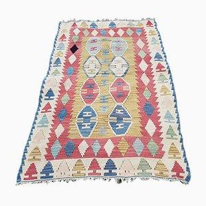 Vintage Turkish Handmade Tribal Kilim Rug, 1970s