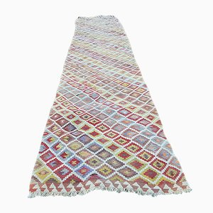 Long Turkish Diamond Patterned Runner, 1970s