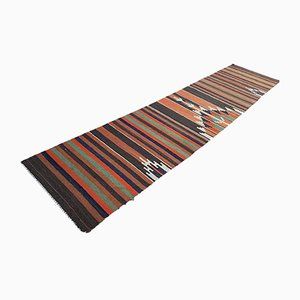 Turkish Wool Striped Runner, 1970s