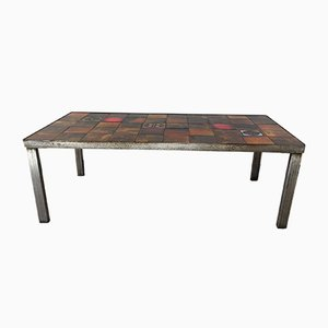Vintage Vallauris Ceramic Coffee Table from LA Roue, 1960s