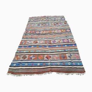 Großer Kelim Teppich mit Rautenmuster, 1970er