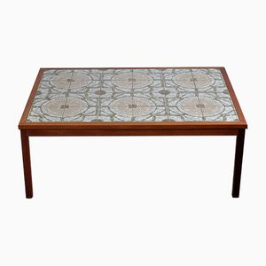 Danish Ceramic Tiled Coffee Table, 1970s