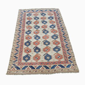 Vintage Blue and Red Oushak Rug, 1970s