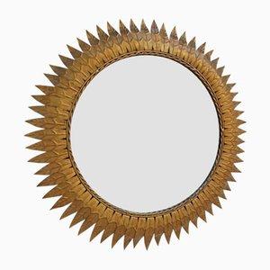 Goldener Vintage Spiegel, 1970er