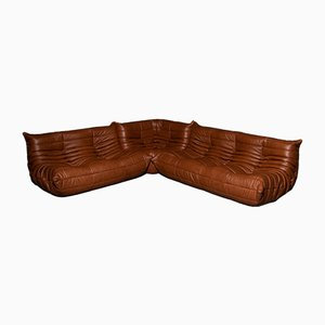 Vintage Togo Sofa Set by Michel Ducaroy for Ligne Roset, 1973, Set of 3