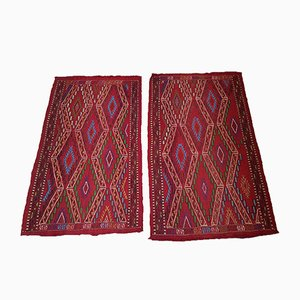 Vintage Turkish Kilim Rugs, 1970s, Set of 2