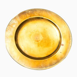 Brass Coaster Plate from Stelton, 1950s