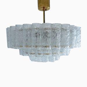 Kronleuchter aus Kristallglas & Messing von Doria Leuchten, 1960er