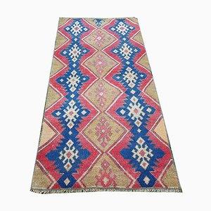 Kleiner türkischer Teppich mit Rautenmuster, 1970er