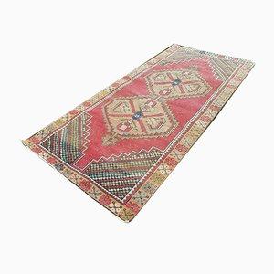 Großer flachgewebter Mid-Century Oushak Teppich