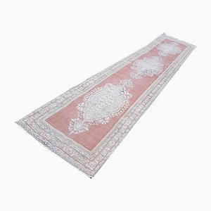 Vintage Turkish Oushak Runner, 1970s