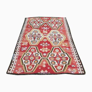 Classic Handwoven Turkish Kilim Rug