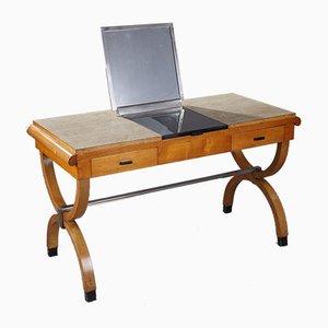 Tocador o escritorio Mid-Century de abedul, años 50