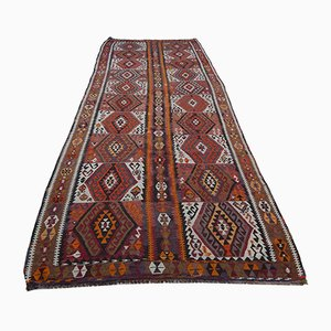 Vintage Turkish Diamond Pattern Kilim Runner, 1970s