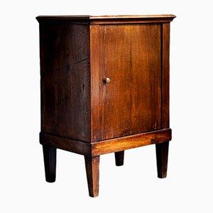 Antiker Nachttisch aus Holz mit Intarsien