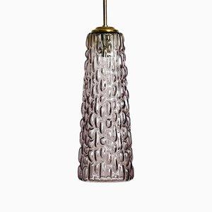 Lampe à Suspension Lilac Mid-Century en Verre de Rupert Nikoll