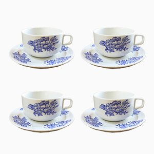 Breakfast Cups from BP France, 1960s, Set of 4