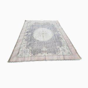 Vintage Distressed Oushak Carpet