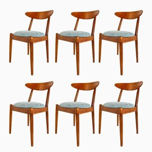 Danish Teak Dining Chairs by Vilhelm Wohlert for Poul Jeppesens Møbelfabrik, 1958, Set of 6