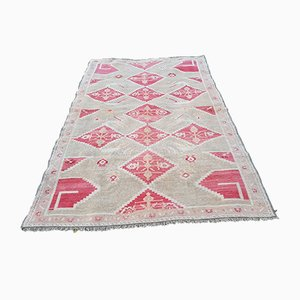 Tapis Oushak Vintage Rouge Clair, Turquie, 1970s