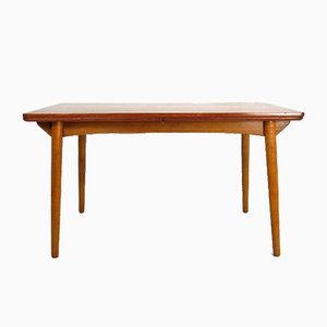 Mid-Century Danish Teak & Oak Dining Table, 1950s