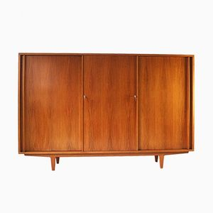 Walnut Highboard with Sliding Doors from WK Möbel, 1960s