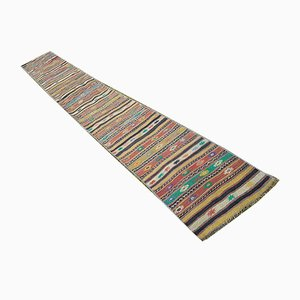 Vintage Multicolored Striped Kilim Runner
