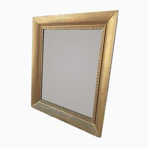 Rechteckiger antiker Spiegel mit vergoldetem Rahmen
