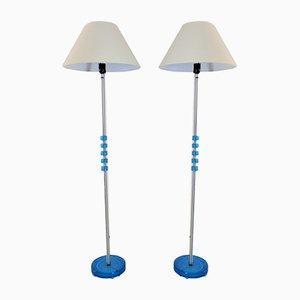 Lámparas de pie escandinavas de Carl Fagerlund para Orrefors, años 60. Juego de 2