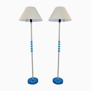 Scandinavian Floor Lamps by Carl Fagerlund for Orrefors, 1960s, Set of 2