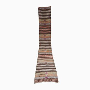 Long Striped Hallway Kilim Runner, 1970s