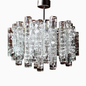 Crystal Glass Tubes Chandelier from Doria Leuchten, 1970s