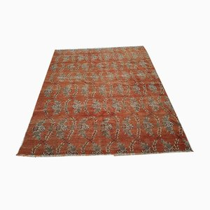 Vintage Turkish Rug with Floral Design