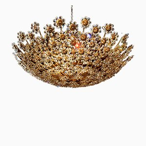 Mid-Century Golden Ceiling Light from Palwa