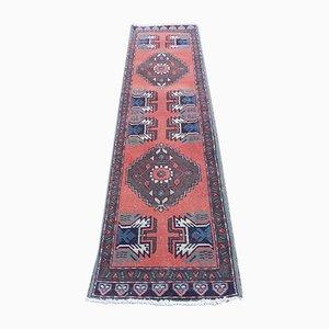 Alfombra turca vintage de tejido plano, años 70