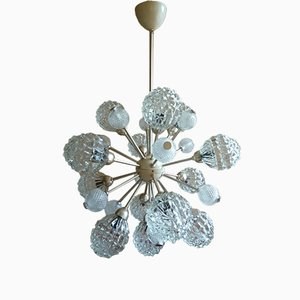 HE-2370 13-Light Sputnik Chandelier with Crystal Globes from Elektrofém ISZ, 1960s