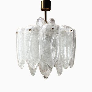 Glass Chandelier from Doria Leuchten, 1970s