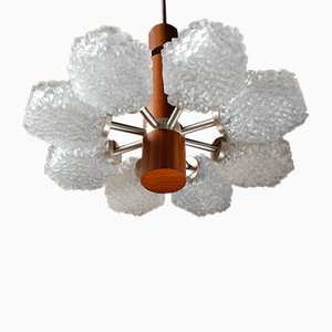 Architectural Teak Chandelier by Helmut Zender for Temde, 1960s