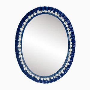 Italian Porcelain Mirror, 1950s