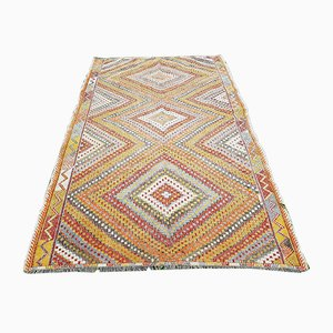 Vintage Diamond Patterned Kilim