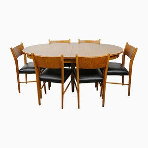 Oval Table & 6 Chairs, 1960s