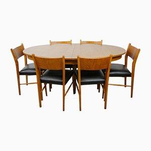 Ovaler Tisch & 6 Stühle, 1960er
