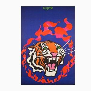 Polish Circus Poster by Tadeusz Jodlowski, 1970