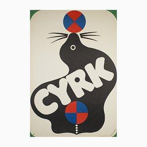 Póster polaco de circo de Jerzy Treutler, 1971