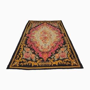Geblümter handgewebter moldawischer Vintage Teppich