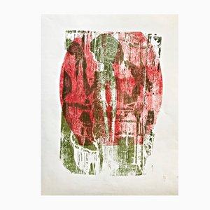 Farbholzschnitt von Gerhard Altenbourg, 1969